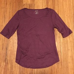 Apt 9 Maroon Elbow Sleeve Tee